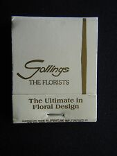 GOLLINGS THE FLORISTS THE ULTIMATE IN FLORAL DESIGN BALACLAVA 5311975 MATCHBOOK