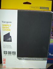 AUTHENTIC Targus Simply Basic Cover Case on/off Cover for iPad 2176US/3 Black
