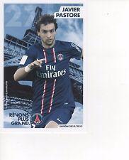 Carte de Javier PASTORE     PSG     Saison 2012/2013