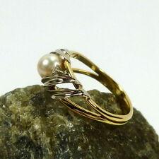 VVS1 Sehr gute Echte Diamanten-Ringe aus mehrfarbigem Gold mit Brilliantschliff