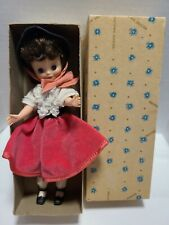 "VINTAGE AMERICAN CHARACTER 8"" BETSY MCCALL HOLIDAY DOLL IN ORIGINAL BOX"