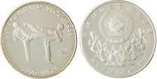 COREE   SEOUL   TAE  KWON DO  5000  WON  ARGENT  1987  CAPSULE  FLEUR  DE  COIN
