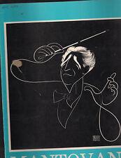 Mantovani & His Orchestra 1965 Souvenir Program Al Hirschfeld