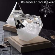 Diamond Shape Weather Forecast Storm Glass Crystal Bottle Love Valentine Gift