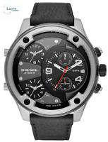 Diesel Boltdown Black Leather Strap Black Dial Chronograph Mens Watch DZ7415
