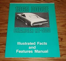 1969 Dodge Charger & RT-500 Illustrated Facts Features Manual 69