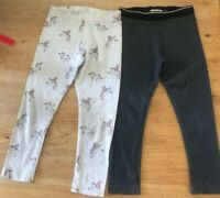 NEXT GIRLS LEGGINGS UNICORN GREY AGE 5 YEARS X 2 PAIRS
