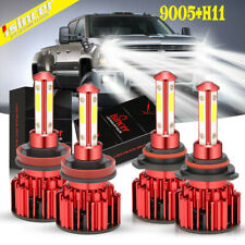 4x Led Headlight Bulbs Conversion Kit 9005 H11 High Low Beam 6000K Super White (Fits: Subaru)