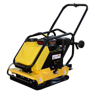 6.5HP Large Plate Walk Behind Vibratory Plate Compactor Rammer Water Tank C110T