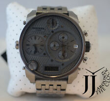 New Diesel Badass Oversized Gray Dial Gunmetal PVD Men's Watch DZ7247
