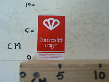 STICKER,DECAL DONORCODICIL DRAGER AUTO FIETS PORTEFEUILLE