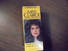 Vintage MISS CLAIROL Hair Color Bath with Collagen Enriched 52 Black Azure
