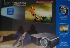 LED MINI HD 1080P VIDEOPROIETTORE PROIETTORE AV USB VGA HDMI PC SD IT OFFERTA