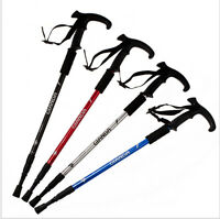 2 x Telescopic 3-Section Antishock Trekking Walking Hiking Pair Stick Pole