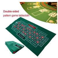 Roulette Casino Tabletop Felt Layout Mat Double-sided Waterproof  Blackjack