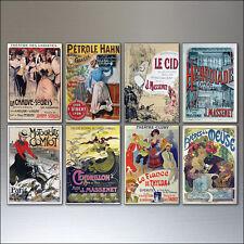 8 Vintage Francés PUBLICIDAD Póster Imanes de nevera Bohemio
