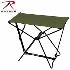 Rothco Folding Camp Stool - Olive Drab Portable Fold Out Stool W/ Matching Case