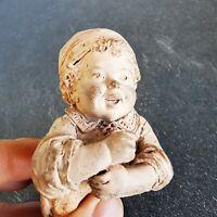Graillon poupon sculpture en terre cuite très rare 19 ème siècle old ancient