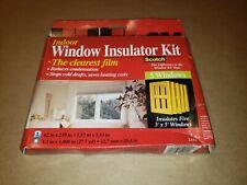 3M Indoor Window Insulator Kit Insultates Five  3x5 Windows brand new in box