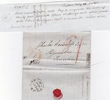 * 1846 FRAMED SEATON No 2 & AXMINSTER PMKS JAMES MAJOR LETTER & BILL OF EXCHANGE