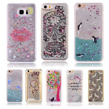 Fashion Dynamic Quicksand Glitter Bling Liquid Case Cover  For iPhone5/6/7 Plus