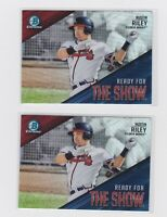 2019 BOWMAN CHROME AUSTIN RILEY REFRACTOR READY FOR THE SHOW LOT