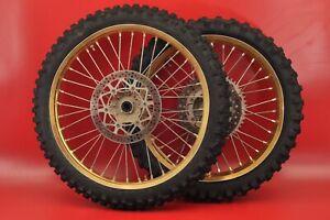 1996 - 1998 Yamaha YZ125 YZ 125 Excel Gold Front Rear Wheel Tire Rim Set