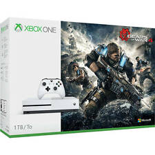 Microsoft Xbox One S (Latest Model) 1TB - Gears of War 4 Bundle - White Console