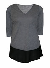 Patternless Viscose V Neck Classic Tops & Shirts for Women