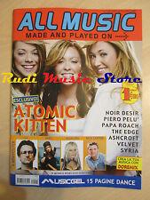 rivista ALL MUSIC 1/2003 Poster U2 Atomic Kitten Piero Pelu' Papa Roach No cd