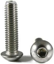 Button Head Socket Cap Screw Stainless Steel Screws UNC 1/4-20 x 1 Qty 100