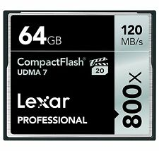 Lexar UDMA 7 800x 64GB CF Compact Flash Memory Card Camera DSLR VPG-20 120MB/s