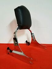 HARLEY SOFTAIL QUICK DETACH CHROME BACKREST>200 TIRE>-FITS 2006-2016>VERY NICE<