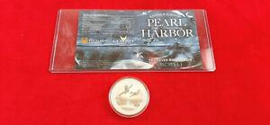 (2016 ) 1 OZ Pearl Harbor 75th Anniversary 99.99 Silver Coin in Capsule w COA