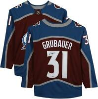 Philipp Grubauer Colorado Avalanche Signed Burgundy Fanatics Breakaway Jersey