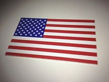 """Aluminum .040"""" Us Flag 3"""" Adhesive-back - Outdoor Long-lasting - Stick-on Metal"""
