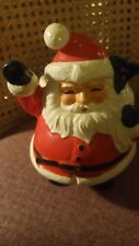 "Vintage Lefton Santa Claus Planter with Arrangement 7"" H Japan"