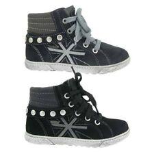 Chaussures moyens à lacets en cuir pour fille de 2 à 16 ans