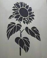 """Sunflower Wall art decal stencil  choose from 3"""" - 8"""" high 350 mcg mylar flower"""