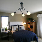 Vintage Pendant Light Black Iron Chandelier Lighting Kitchen Island Ceiling Lamp