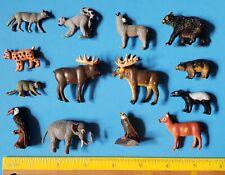 Lot Of 14 Miniature 1994 K&M Woodland Rainforest Animal Figures COMBINE SHIP...