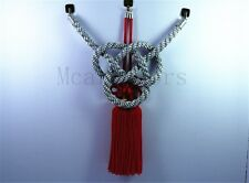 A Set Car Vip Chinese Good Luck Charms Silvery Kin Tsuna Rope Red Fusa Kiku Knot