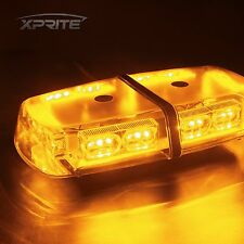 Xprite Amber Yellow Roof Top Flash Emergency Warning Strobe Light Bar 36 LED