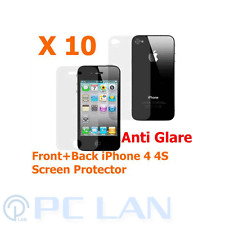 10x Anti-Glare Front + Back Screen Protector FULL BODY for iPhone 4 4S