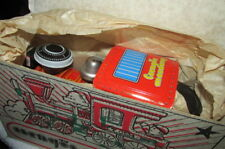 Tin  Locomotive Train-Vintage Battery Operated- Chengos Mozdony-Made in Hungary