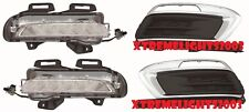 CHEVY CRUZE 2015 2016 DAYTIME RUNNING LIGHTS TRIM BEZEL BUMPER LAMPS 4PC SET