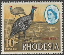 Rhodesia Zimbabwe 1966 QEII Early Issue Local Motives - Guineafowl 10s SG 386