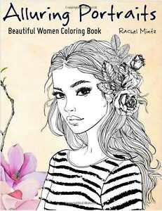 Portrait Fashion Adult Colouring Book Hand Drawn Women Girls Ladies Face Makeup