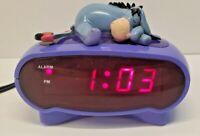 Walt Disney Winnie Pooh Eeyore LED Alarm Clock Vintage Depressed Donkey