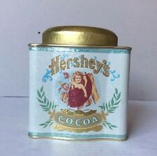 VINTAGE HERSHEYS COCOA Bristol Ware TIN Empty BOX WITH LID